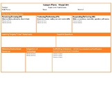 Ohio Fourth Grade Fine Arts Music and Visual Art Lesson Plan Templates