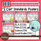 """Ohio Fourth Grade Standards Bundle """"I Can"""" Posters"""
