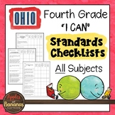 "Ohio - Fourth Grade Standards Checklists for All Subjects  - ""I Can"""