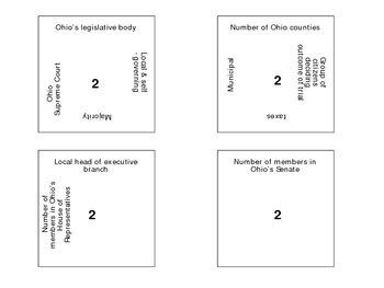 Ohio Government Vocabulary Puzzle