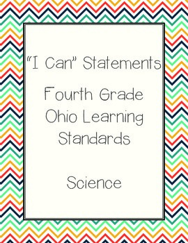 Ohio Grade 4 Science: I Can Statements