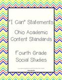 Ohio Grade 4 Social Studies: I Can Statements