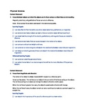 Ohio Grade 8 Science I can Statements-Physical