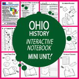 Ohio History–Interactive Notebook Ohio State Study Unit + AUDIO!