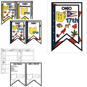 Ohio History Word Wall, State Profile, Activity Pages