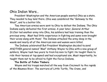Ohio Indian Wars Newspaper Activity