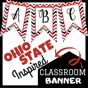 Ohio State Inspired Classroom Banner