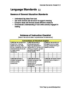 Ohio Learning Standards - Extended 4 Subject BUNDLE Grades 9-12