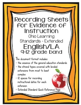 Ohio Learning Standards - Extended English/Language Arts Grades 9-12