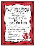 Ohio Learning Standards - Extended Math Grades 9-12