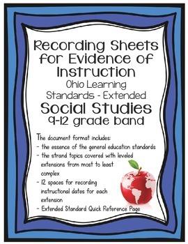 Ohio Learning Standards - Extended Social Studies Grades 9-12