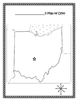 Ohio Map Skills: Color and Label