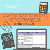 Ohio Math 6-8 Extended Standards School Year Schedule