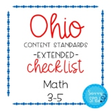 Ohio Math Extended Standards Checklist Grades 3-5