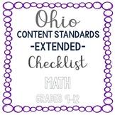 Ohio Math Extended Standards Checklist Grades 9-12