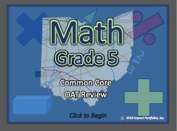 Ohio Math OAT Review - 5th Grade Common Core Math Review Program - BOGO