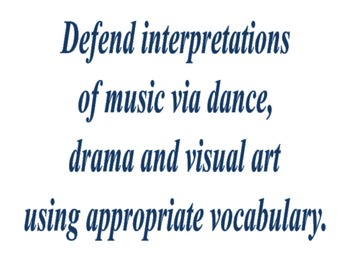 Ohio Music Standards Posters grades 5-HS1
