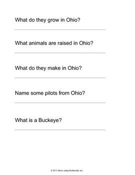 Ohio - Poem/Chant and Worksheet