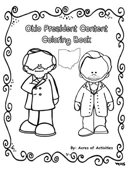 Ohio Presidents Content Coloring Book