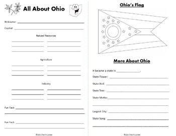 Ohio Research Webquest Mini-Book Activity Common Core