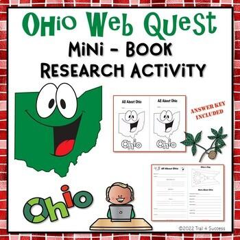 Ohio Research Webquest Mini-Book Activity Common Core