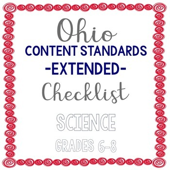 Ohio Science Extended Standards Checklist Grades 6-8