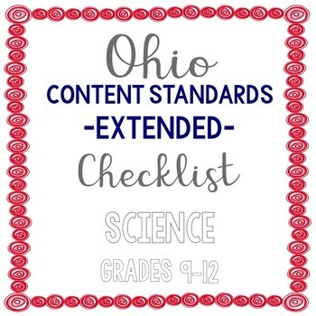 Ohio Science Extended Standards Checklist Grades 9-12