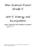 Ohio Science Fusion Unit 5 Lesson 1