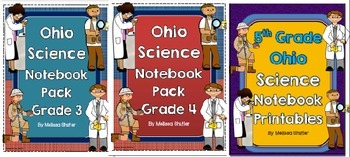 Ohio Science Notebook Printables BUNDLE Grades 3-5