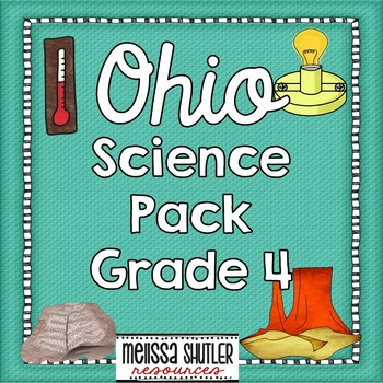 Ohio Science Notebook Printables Pack Grade 4