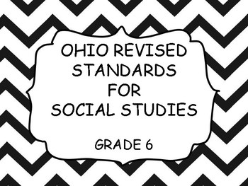 Ohio Sixth Grade Social Studies Standards - Chevron border