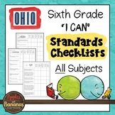 Ohio - Sixth Grade Standards Checklists for All Subjects