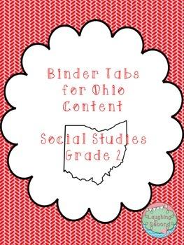Ohio Social Studies Content Statements - Grade 2 - Binder Tabs