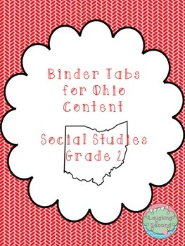 Ohio Social Studies Content Statements - Grade 2 - Binder Tabs