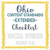 Ohio Social Studies Extended Standards Checklist Grades 9-12