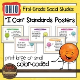 Ohio Social Studies - First Grade Standards Posters