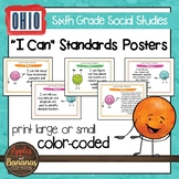 Ohio Social Studies I Can Standards - Sixth Grade Posters