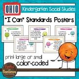 Ohio Social Studies - Kindergarten Standards Posters