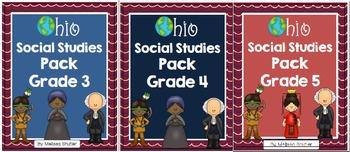 Ohio Social Studies Pack BUNDLE for Grades 3-5