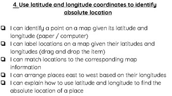 Latitude And Longitude Sixth Grade Worksheets & Teaching