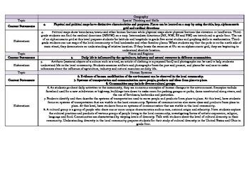 Ohio Social Studies Standards Grade 3 Curriculum Map