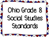 Ohio Social Studies Standards & I Can Statements 8th Grade