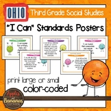 Ohio Social Studies Standards - Third Grade Posters and Statement Cards