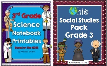 Ohio Social Studies and Science Pack Bundle Grade 3