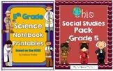 Ohio Social Studies and Science Pack Bundle Grade 5