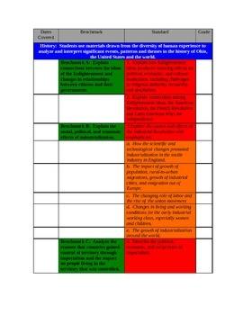 Ohio Standards Curriculum Map