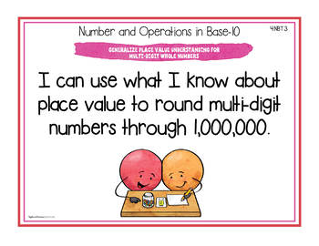 "Ohio Standards for Fourth Grade MATH ""I Can"" Posters and Statement Cards"