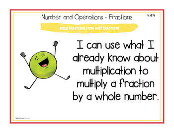 """Ohio Standards for Fourth Grade MATH """"I Can"""" Posters and Statement Cards"""