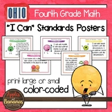 "Ohio Standards for Fourth Grade MATH ""I Can"" Posters"