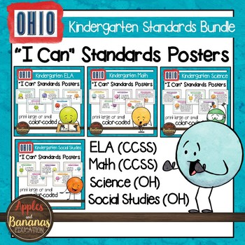 Ohio Standards for Kindergarten - All Subjects - Posters &